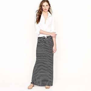 J. Crew Striped Maxi Skirt